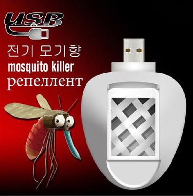 韓版USB滅蚊香片器2件組加贈★快樂馬天然植物精油驅蚊貼片24枚 (2.1折)