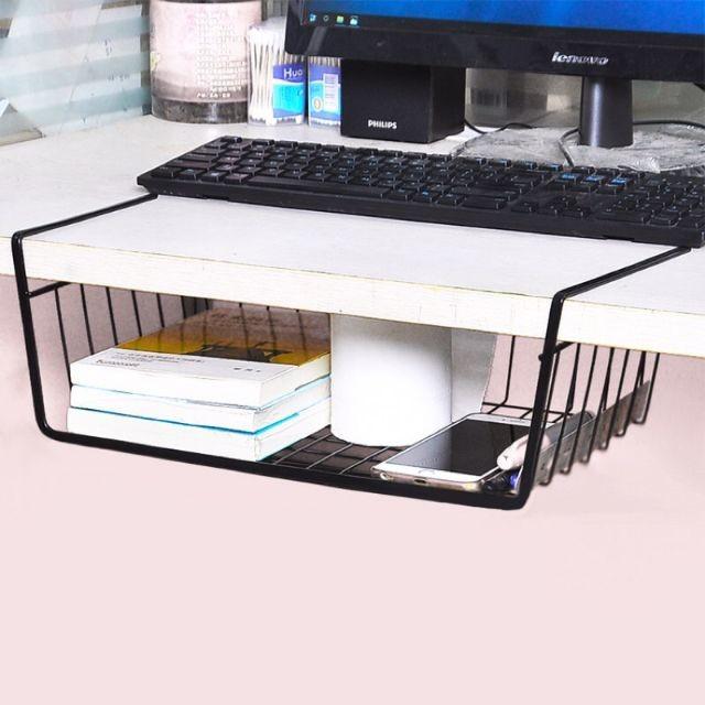 [效除小舖] 桌下收納架 辦公室收納架 承重5kg