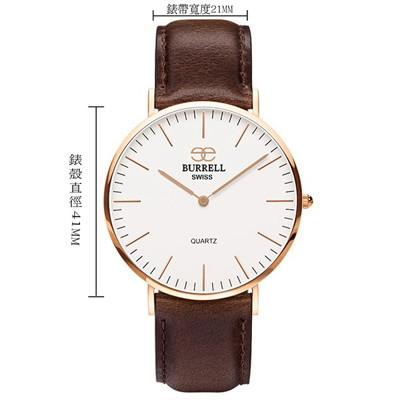 瑞士品牌超薄腕錶-加贈帆布錶帶一條 (3折)