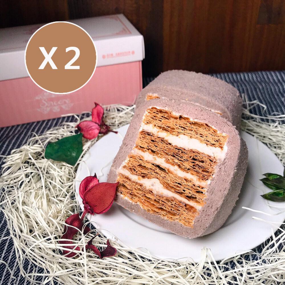menippe媚力泊香濃芋頭拿破崙蛋糕捲 二條入 免運 彌月蛋糕 伴手禮
