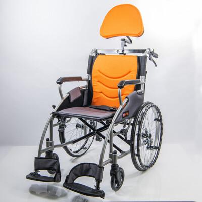 輪椅 均佳 jw-125 鋁合金輪椅+靠頭組 20吋後輪 輪椅-b款輕量化量產型 (9.3折)