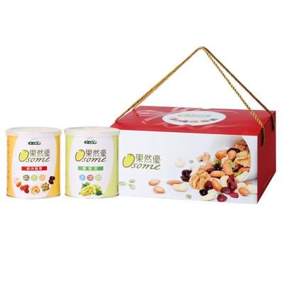統一生機果然優堅葡禮盒(綜合堅果360g+葡萄乾400g/盒) (8.3折)