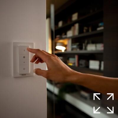 PHILIPS Hue 遙控器 智能無線調光器 開關HUE燈具配套配件 (9.2折)