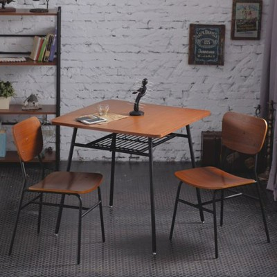 一桌二椅《AccessCo》工業風復古微笑餐桌椅組合 (4.9折)