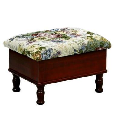 胡桃木色《閱讀歐洲》古典玫瑰收納椅 (6.2折)