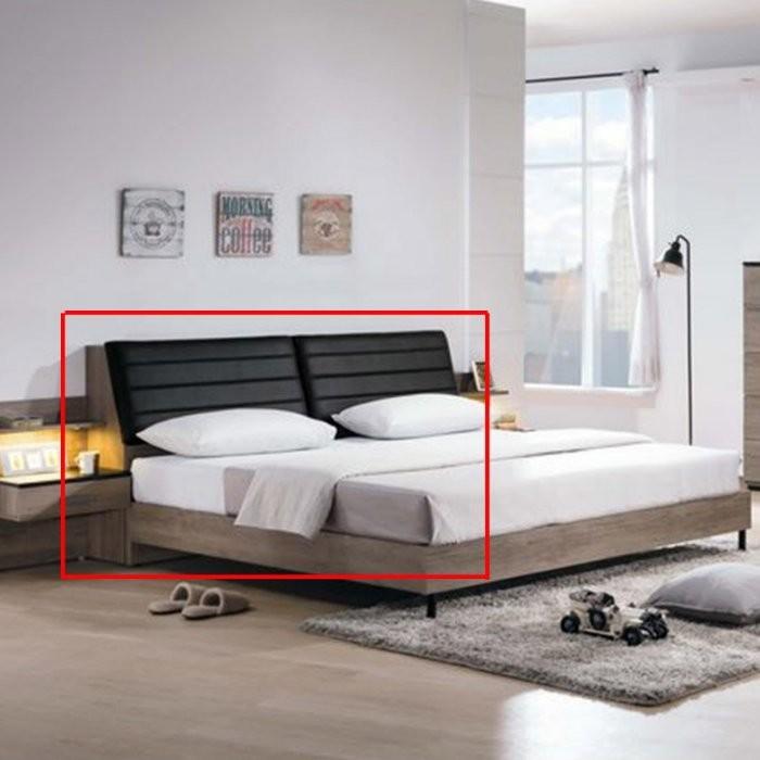 新精品ye-a33-03 迪恩6尺乳膠皮革+置物床頭 (不含其它商品) 台北到高雄滿三千搭車免運