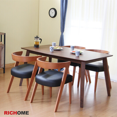 【RICHOME】羅蘭餐桌椅組 (一桌四椅) (7.8折)
