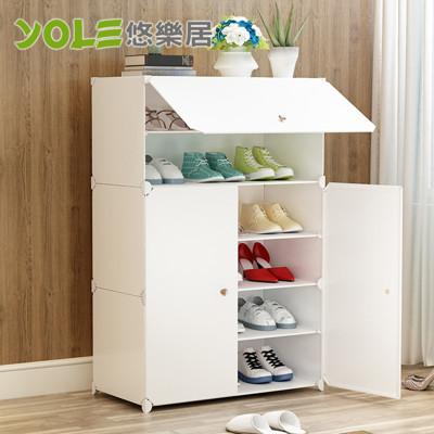 【YOLE悠樂居】隨心DIY百變組合櫃 (SHC-069) 6層3門鞋櫃 #1327055 (7.6折)
