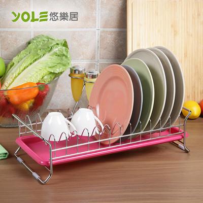 【YOLE悠樂居】單層12格碗盤收納瀝水架#1132049 (7.6折)