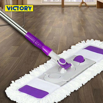 【VICTORY】乾濕兩用扣式大平板拖把(纖維布+綿紗布) (6折)