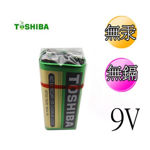 東芝 環保碳鋅電池9v 6入