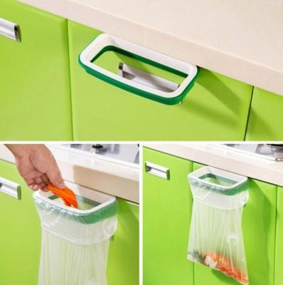 防脱落設計廚櫃垃圾袋掛架 垃圾袋收纳框 掛式垃圾架 (4折)