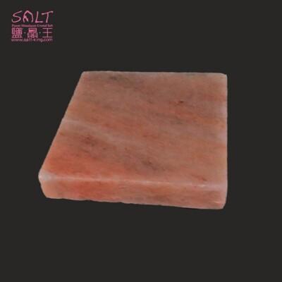 鹽燈專家【鹽晶王】喜馬拉雅山100%純天然結晶玫瑰岩(鹽板/鹽烤板/鹽磚)正方形一入。 (6.4折)