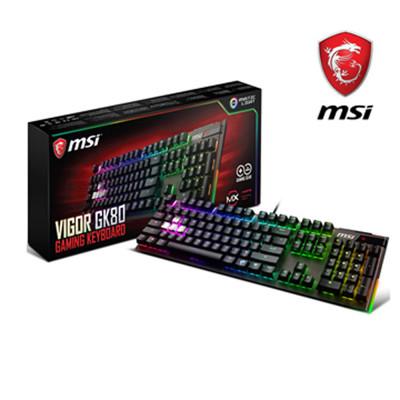 9月促銷 微星 MSI Vigor GK80 Cherry MX RGB 機械電競鍵盤 (紅軸版) (8.3折)