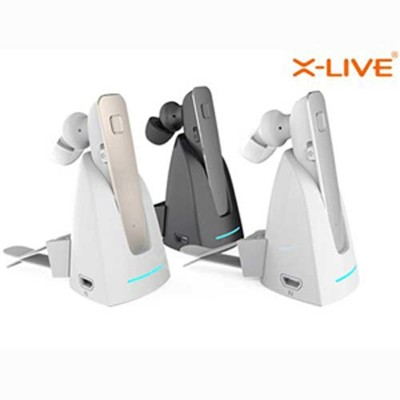 X-LIVE R6100T磁吸充電 車載藍芽耳機 鋁合金外殼藍芽 音樂藍牙耳機 台灣晶片 (6.7折)