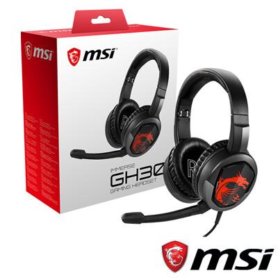 電競首選 MSI IMMERSE GH30 電競耳機 (7.6折)