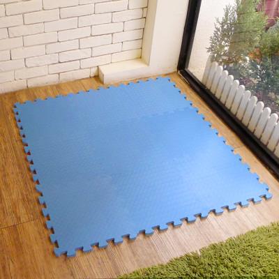 【新生活家】EVA運動安全地墊62x62x1.3cm12入-藍色 (0.5折)