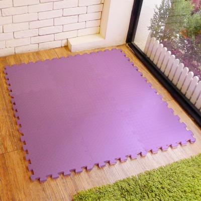 【新生活家】EVA運動安全地墊62x62x1.3cm12入-紫色 (0.5折)