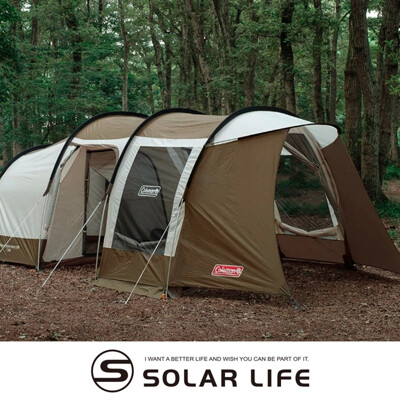 Coleman 綠橄欖版 隧道式2 ROOM LDX 套裝組(4-5人帳篷).一房一廳帳 家庭帳 (9.5折)