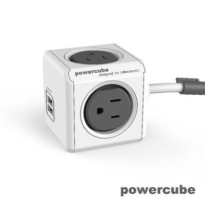 【索樂生活】荷蘭PowerCube 擴充插座4面3孔雙USB兩用延長線1.5m.自動斷電保護積木堆疊 (6.6折)
