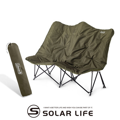 Coleman 沙發情人椅/CM-37432.雙人折疊露營椅 戶外雙人椅 摺疊長椅 休閒椅 月亮椅 (8.7折)