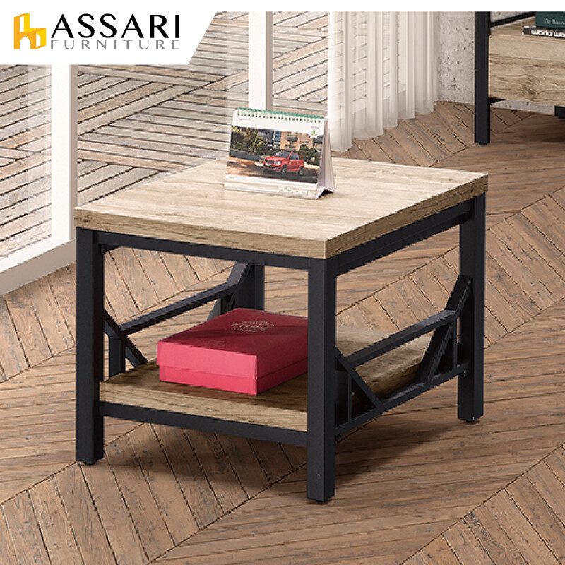 assari-佐久間日式2尺小茶几(寬60x深60x高50cm)