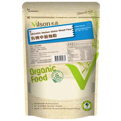 米森有機高筋、中筋、全麥麵粉500g(任選三包)獨家贈送泡打粉及酵母粉 (7.5折)