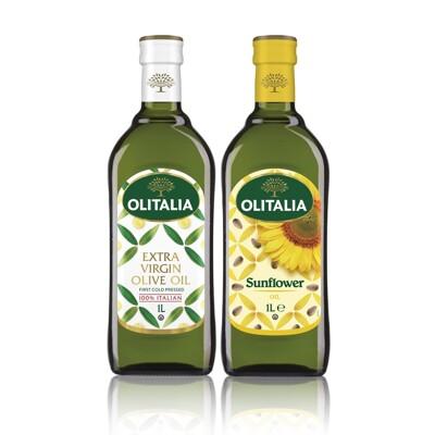 奧利塔特級初榨橄欖油 1000ml+奧利塔葵花油 1000ml (8折)