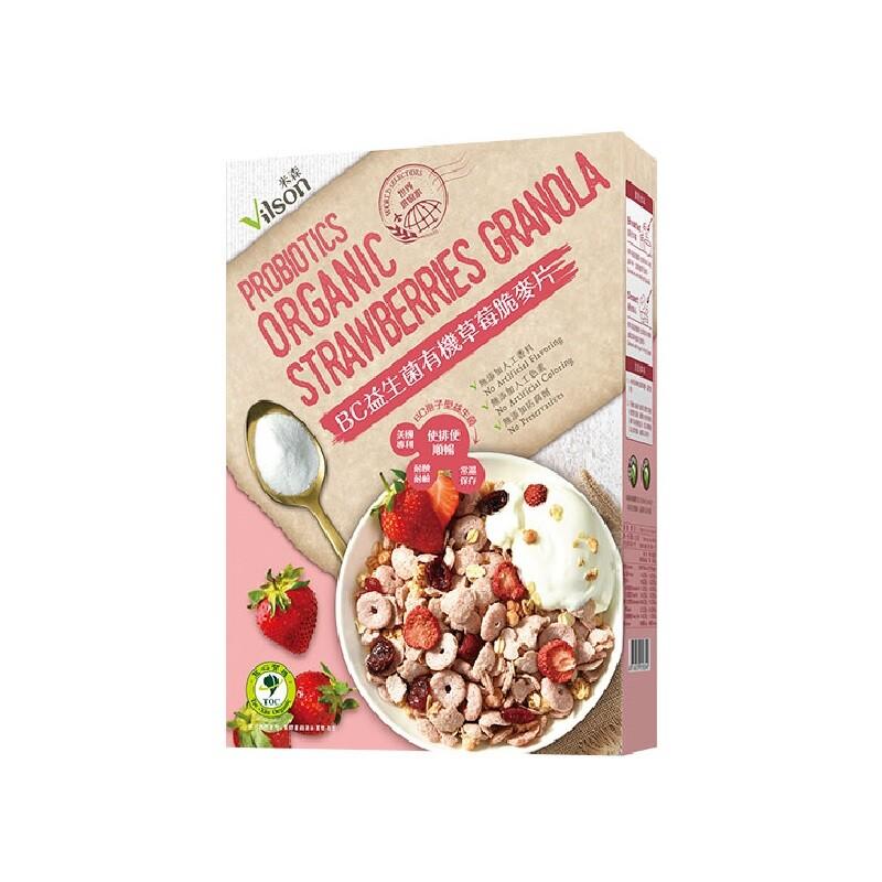 米森 vilsonbc益生菌有機草莓脆麥片 (300g/盒)