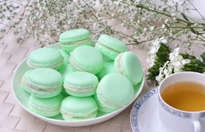香草哲雪茉莉綠茶馬卡龍手工皂 (6.8折)
