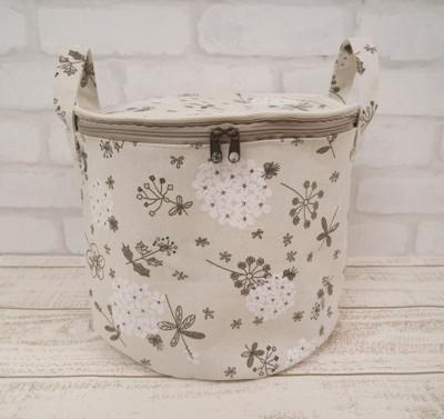 棉麻 手提收納籃 收納桶 置物籃 置物桶 (2.6折)