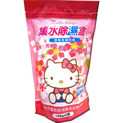 【Hello Kitty】集水袋除濕盒補充包-淡雅花香 (6.5折)
