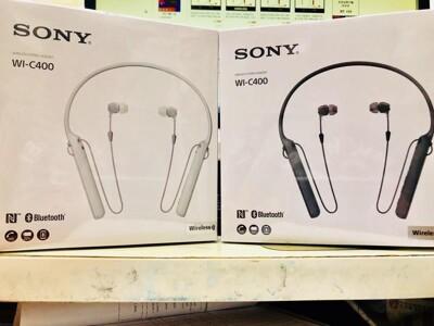 [電子威力] 台灣公司貨保固1年 SONY WI-C400 黑色白色 藍芽耳機 藍牙耳機 耳道式 (6.2折)