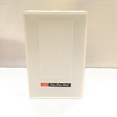 [電子威力] (特製12V/24V/220V)台灣製 DING DONG 明式方型叮咚叮噹門鈴電鈴白 (9折)
