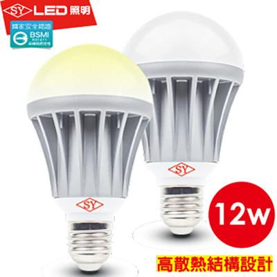 【SY 聲億科技】全電壓 LED 12W 燈泡 CNS認證 白光 (0.9折)