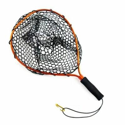【猛哥釣具】硅膠防纏路亞網 (小號) 手撈網 網球拍網 不怕纏鉤 (6.1折)