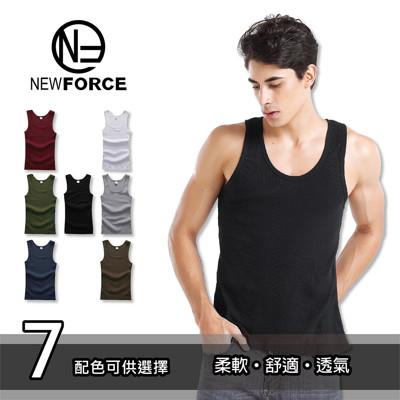 型男透氣吸濕排汗圓領背心 (1.3折)