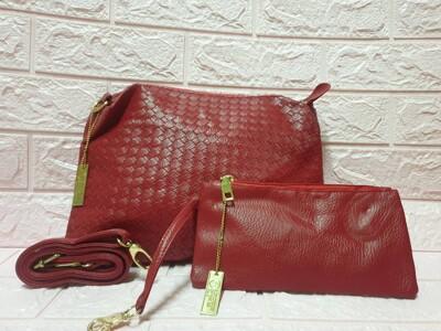 瑞士百年品牌【MONCROSS】編織紋側背包+手拿包 (1.5折)
