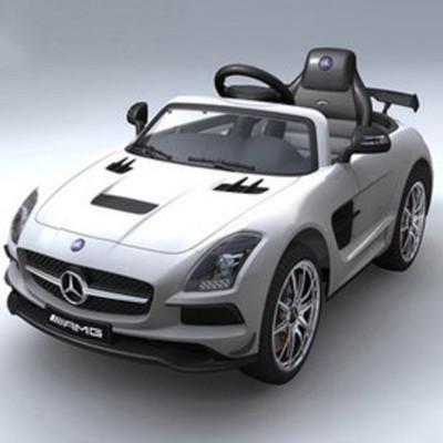 賓士Benz 原廠授權 SLS 影音版 雙驅兒童電動車 烤漆銀 (6.6折)