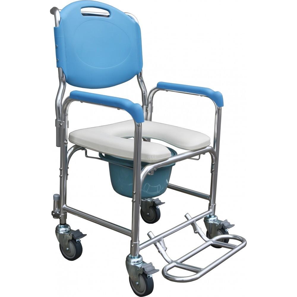 鋁製附輪便器椅 洗澡椅 兩用