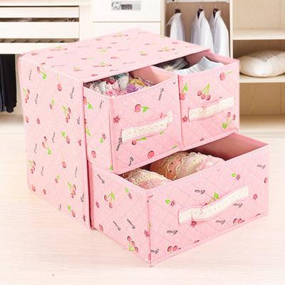 簡約加厚兩層抽屜衣物收納盒 (4.3折)