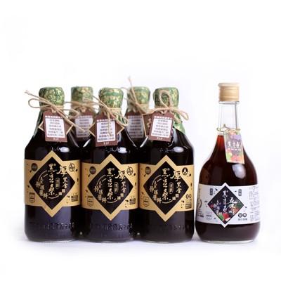 黑豆桑頂級厚黑金醬油組-送500ml五果淳一瓶 (8.3折)
