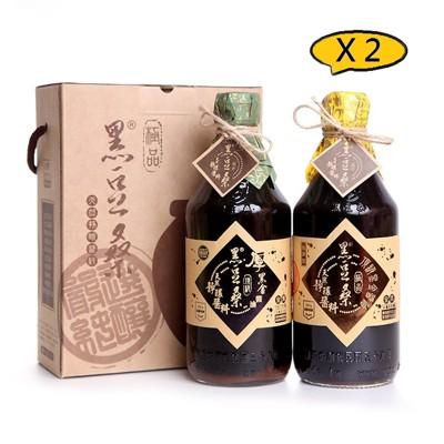 黑豆桑無麥麩頂級醬油2入組 X 2 (8.8折)