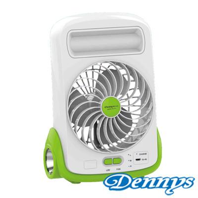【Dennys】USB充電式LED燈5吋風扇(FN-510) (7.3折)