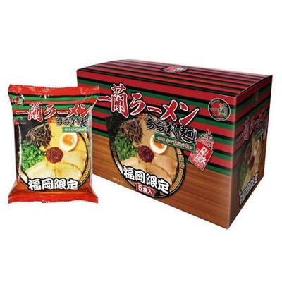 排隊美食一蘭拉麵 平均最低$143/包(116g*5包/盒) 福岡限定-全新盒裝日本 (8.9折)